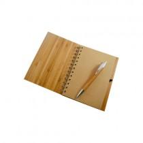 Anotador de madera con bolígrafo