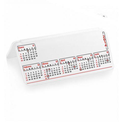 Carpita blanca con calendario