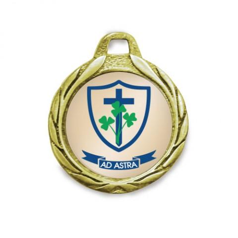 Medalla Lauro oro brillante